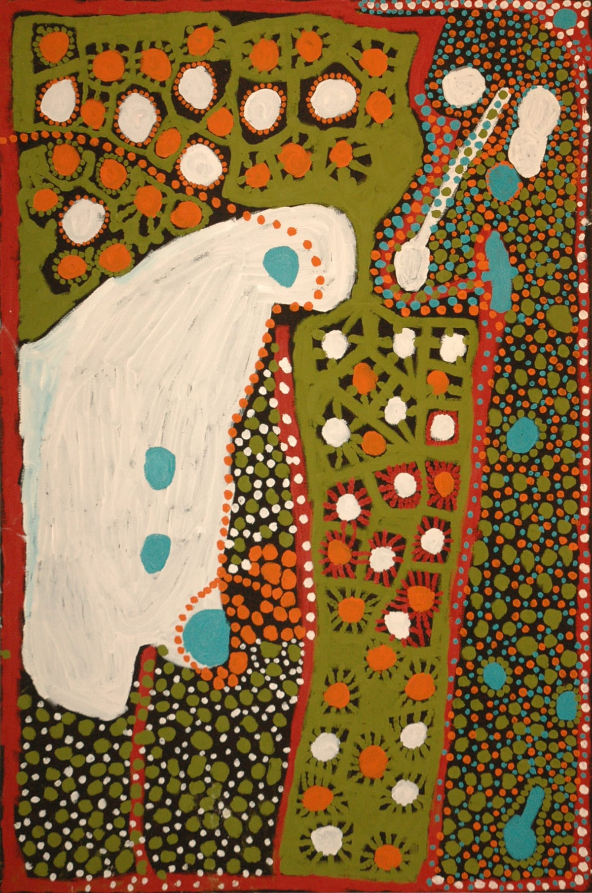 Weaver Jack Winpa acrylic on linen 110 x 165 cm