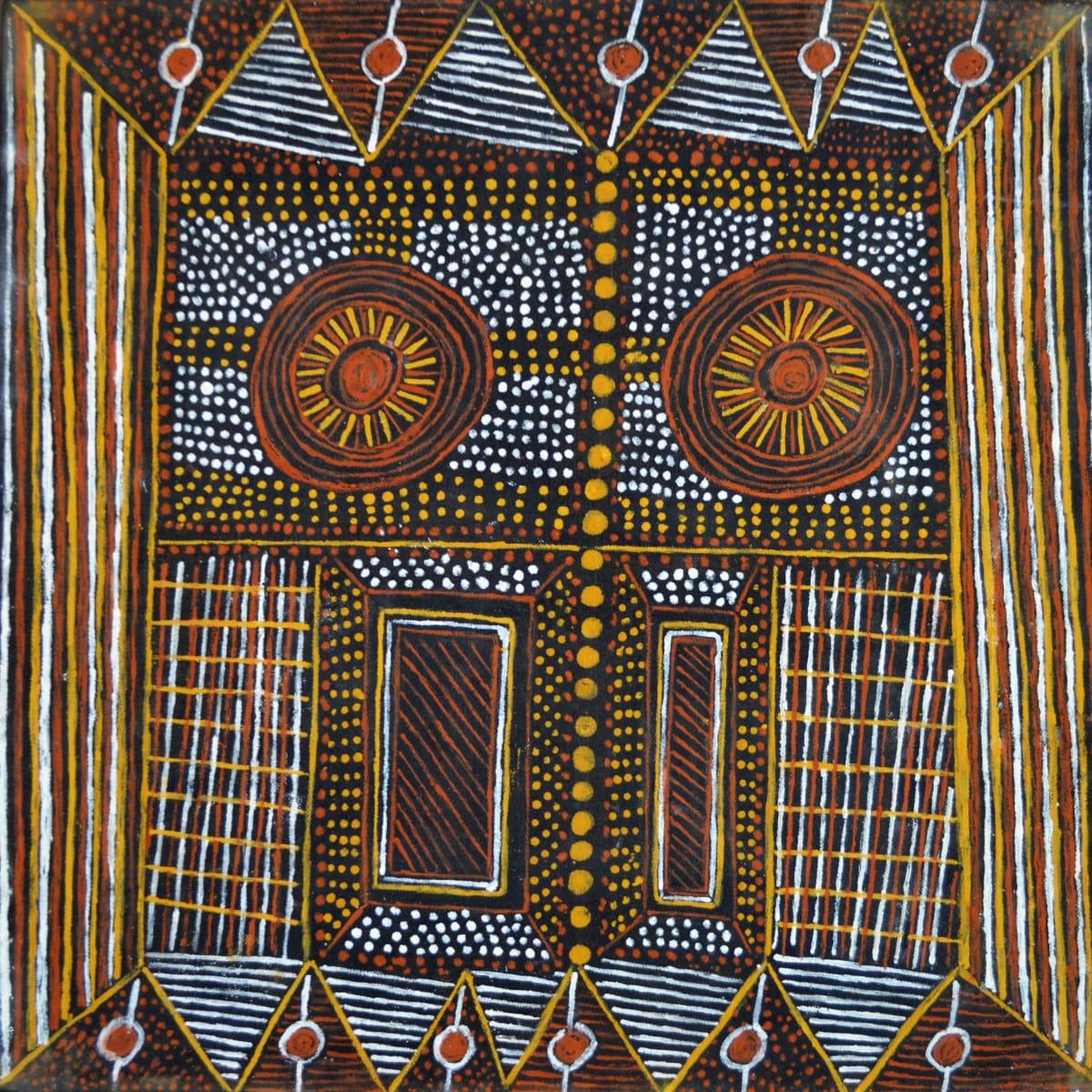 Pamela Brooks Parlini Jilamara natural ochres on canvas 45 x 45 cm