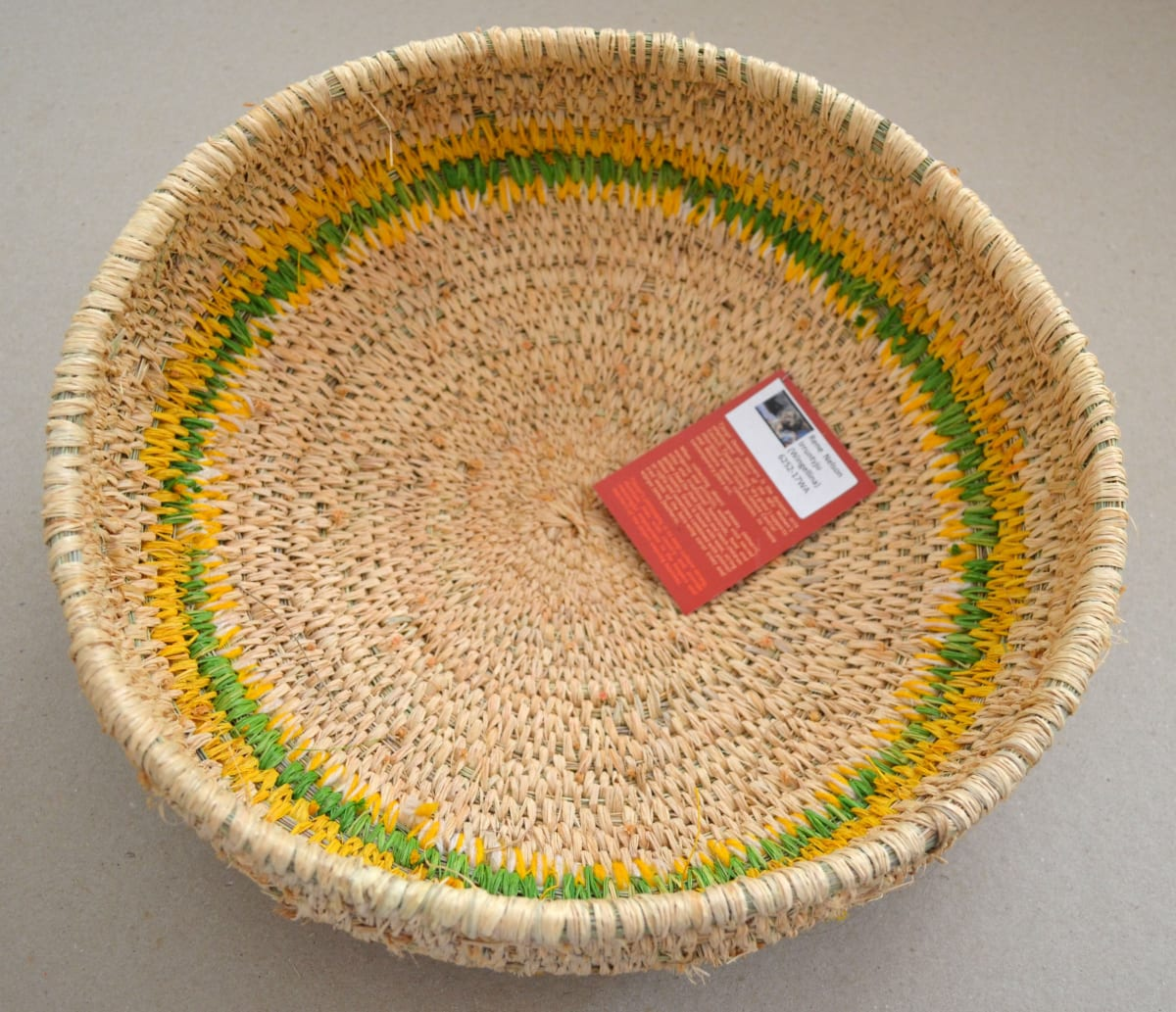 Rene Nelson Basket minarri grass and raffia 8 x 32 cm