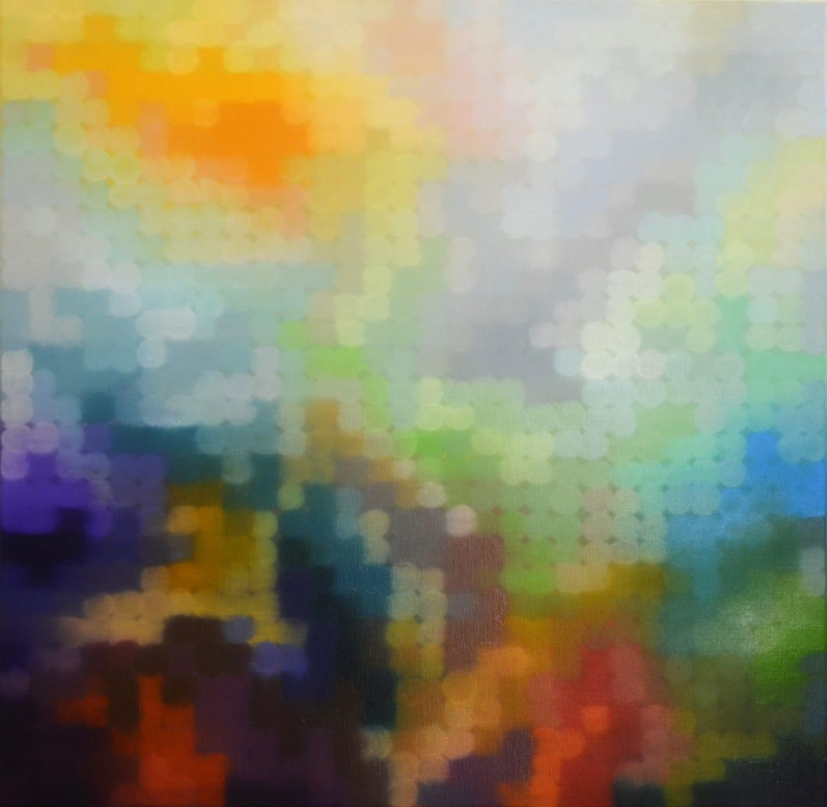 Matthew Johnson Element II oil on board 90 x 90 cm
