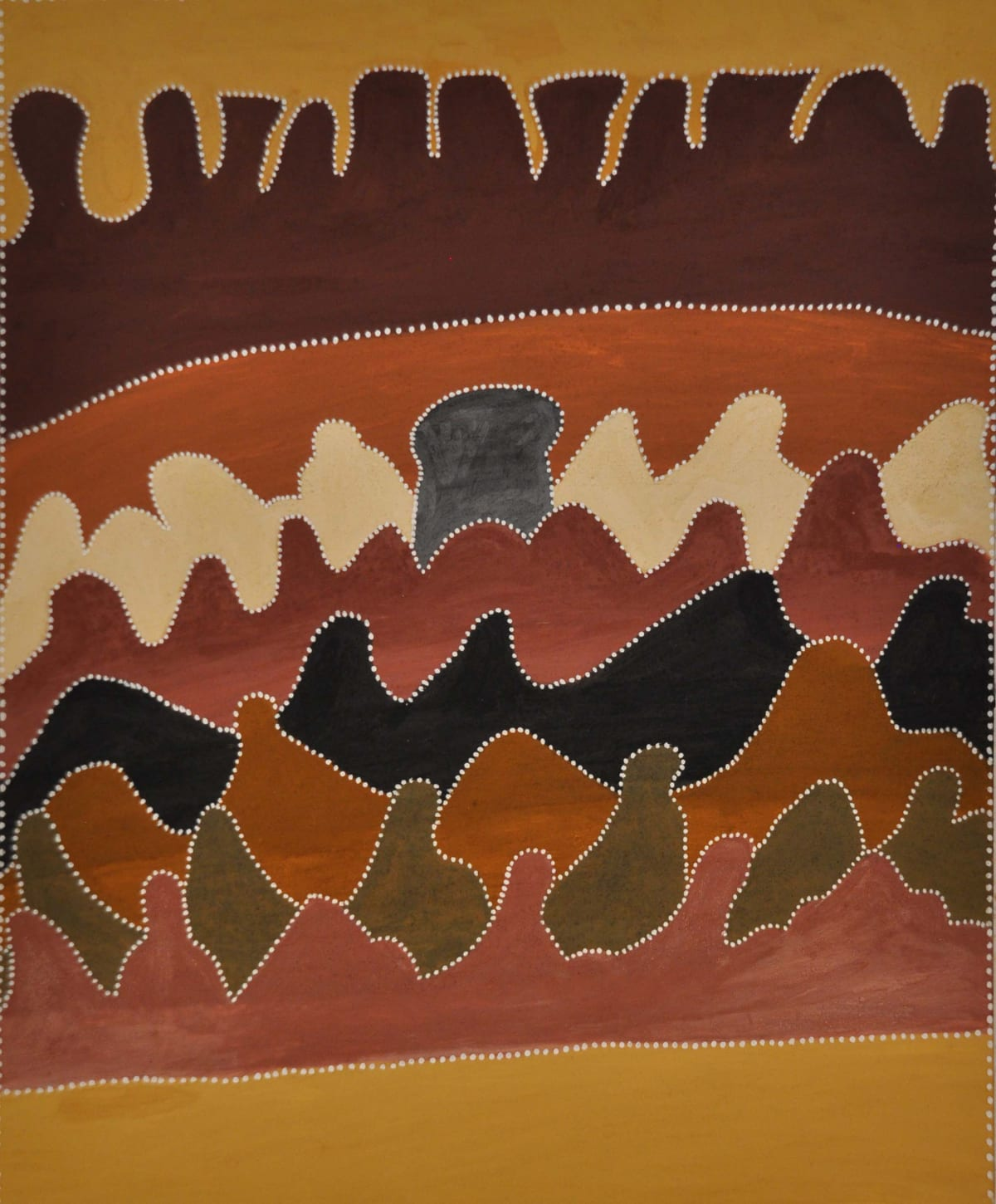 Betty Carrington Ngarrgooroon natural ochre and pigments on canvas 100 x 120 cm