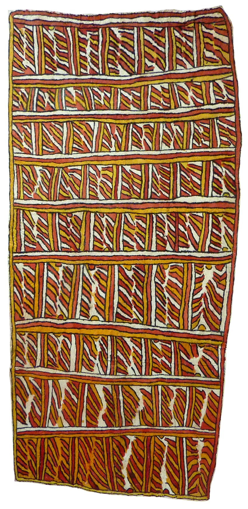 Audrey Masé Ani'emeh buri'eteh natural pigments on nioge (barkcloth) 140 x 66.5 cm