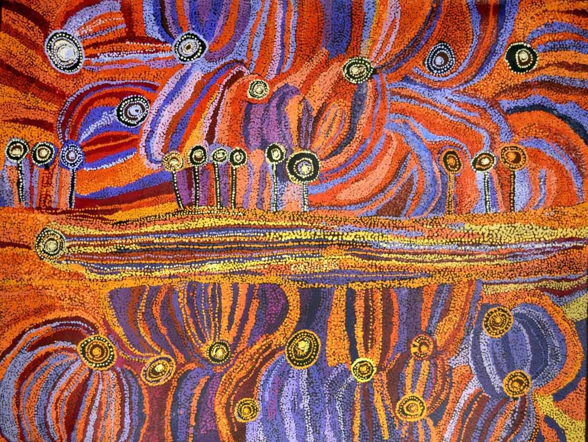 Wawiriya Burton Ngayuku ngura - My Country acrylic on linen 152 x 200 cm