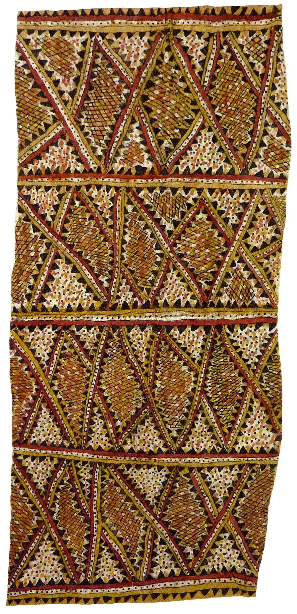 Botha Kimmikimmi (Hirokiki) Dohoru'e natural pigments on nioge (barkcloth) 113 x 52 cm