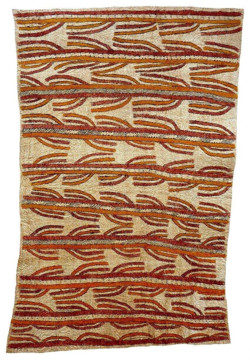 Celestine Warina Tagure (udane une, sabu'ahe ohu'o cobbure jo'o si'o si'o ve'e) natural pigments on nioge (barkcloth) 103.5 x 69 cm