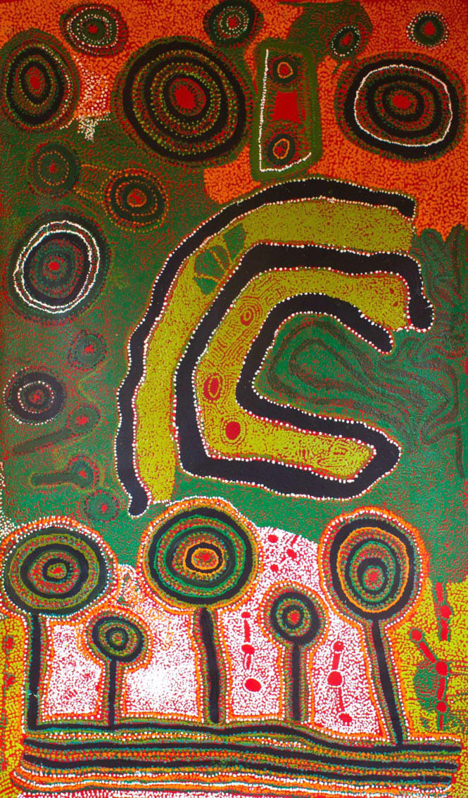 Iyawi Wikilyiri Ngura Ngarutjara 2013 acrylic on linen 120 x 200 cm