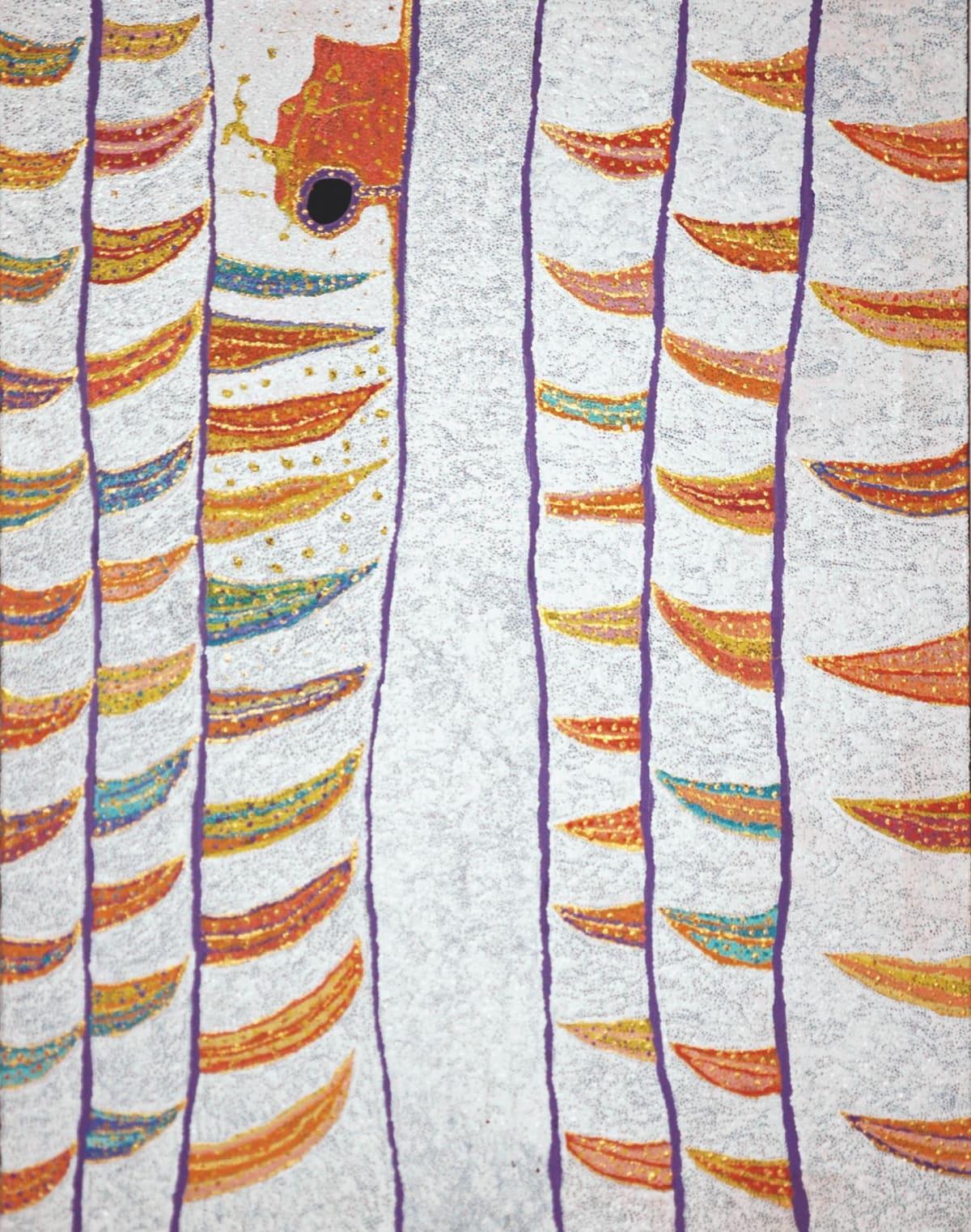 Daniel Walbidi Kirriwirri acrylic on linen 120 x 90 cm