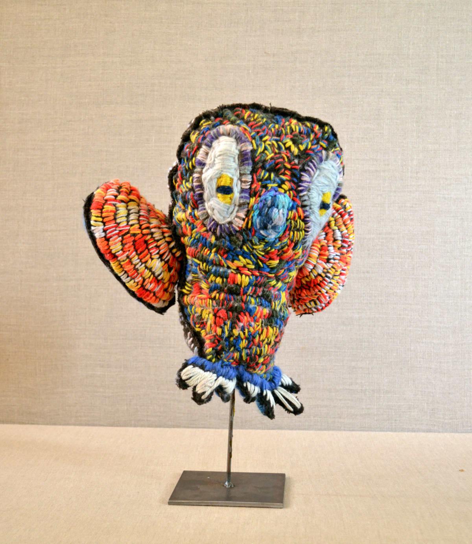 Marlene Rubuntja Owl Soft Sculpture 37 x 34 x 11 cm