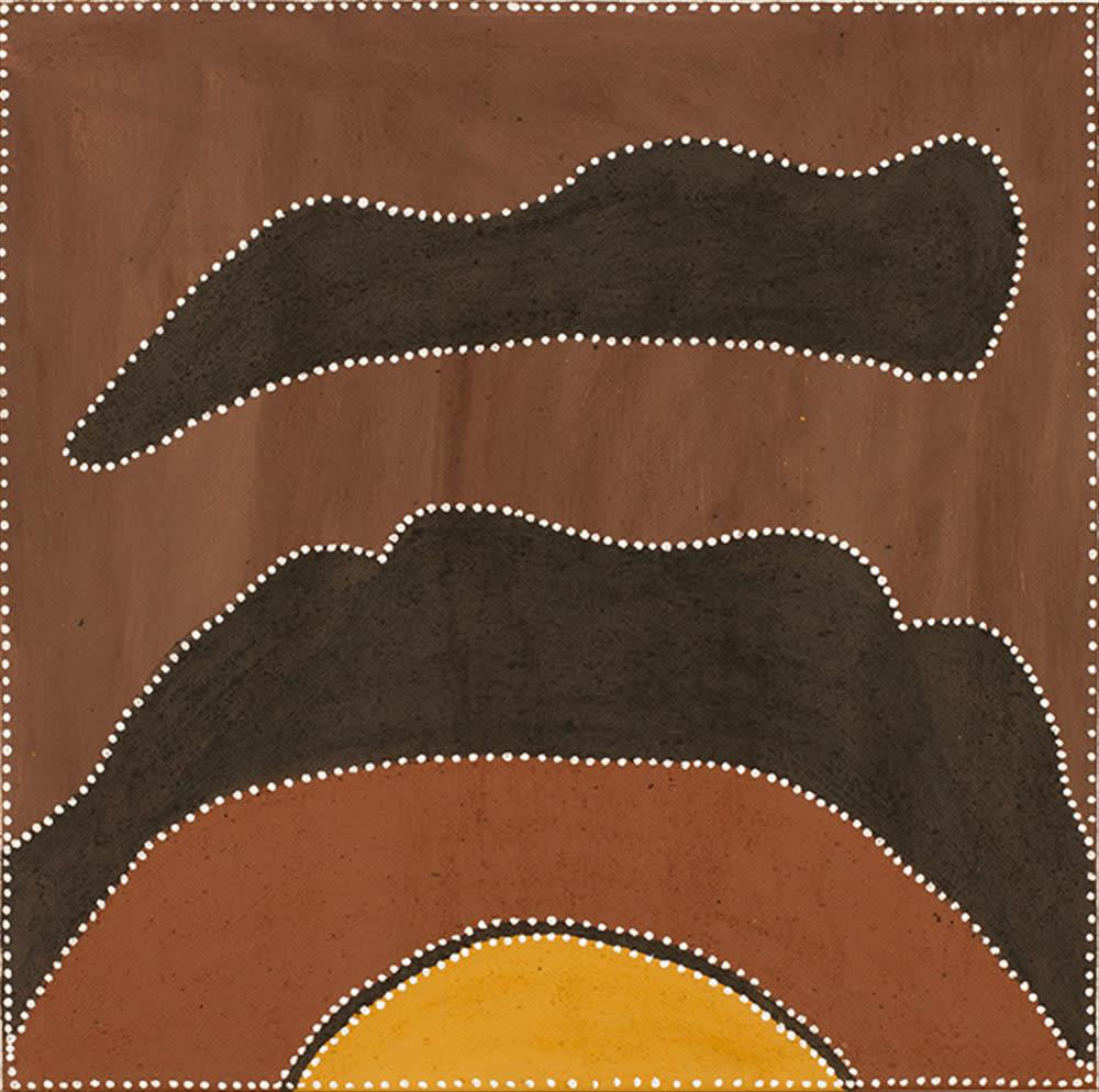 Lorraine Daylight Ngarrgooroon Country natural ochre and pigments on canvas 60 x 60 cm