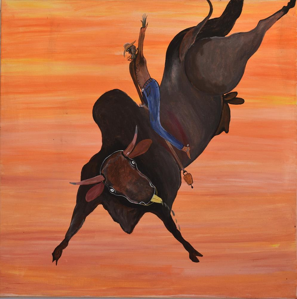 Phillip Munda Old Time Rodeo, 2019 Acrylic paint on canvas 90 x 90 cm