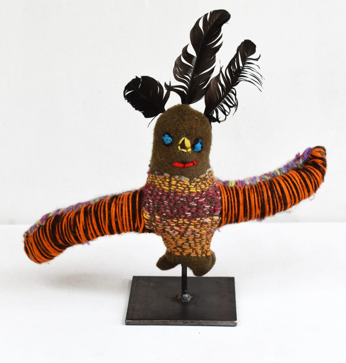 Rosabella Ryder Dancing Bird mixed media 25 x 25 x 6 cm