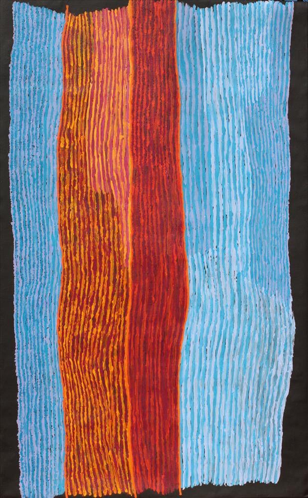 Ray Ken sand dune acrylic on linen 122 x 198 cm