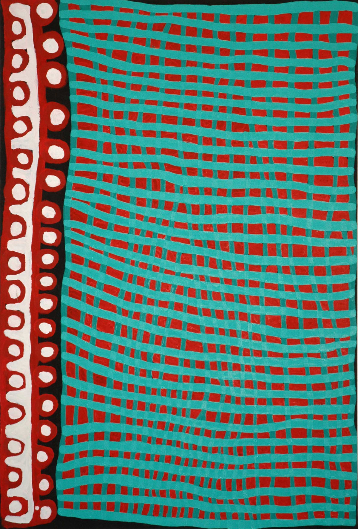 Donald Moko Kardal acrylic on canvas 168 x 112 cm