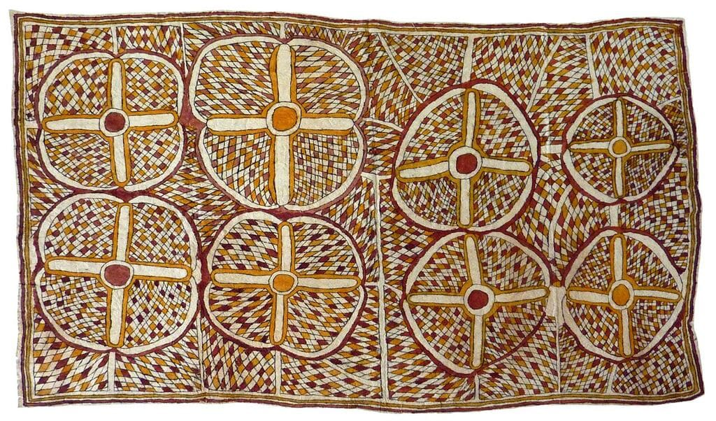 Pennyrose Sosa Jij'e natural pigments on nioge (barkcloth) 124.5 x 71 cm