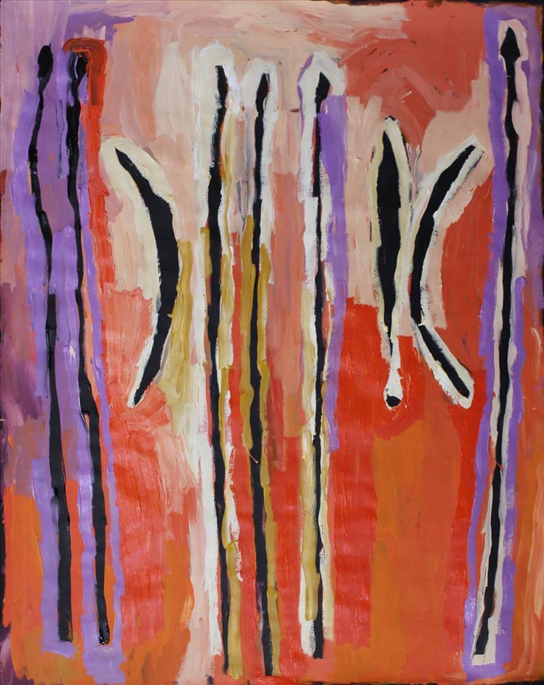 Brenton Ken Kulata tjuta acrylic on linen 152 x 122 cm