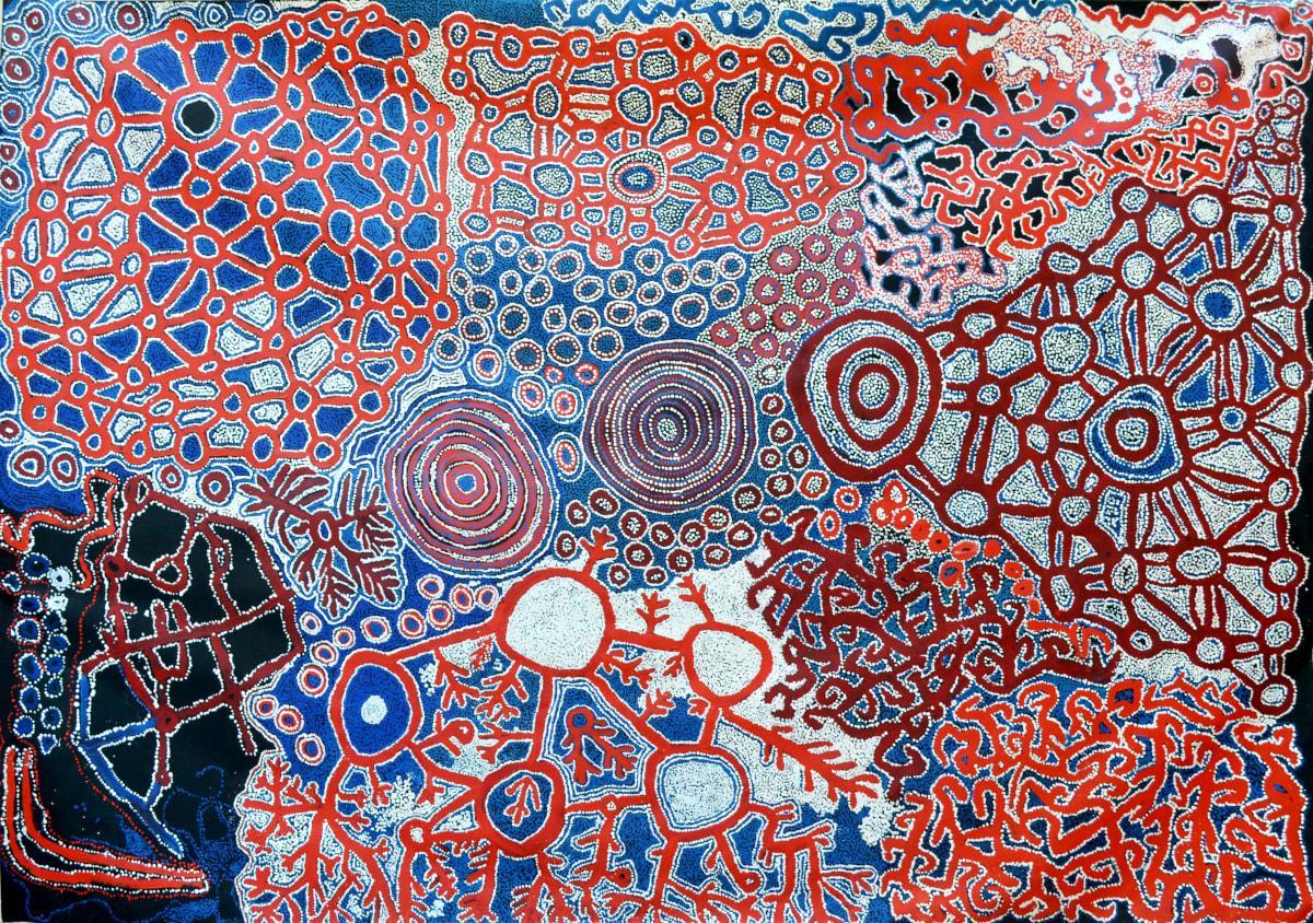 Men's Collaborative Pilanguru acrylic on canvas 290 x 200 cm