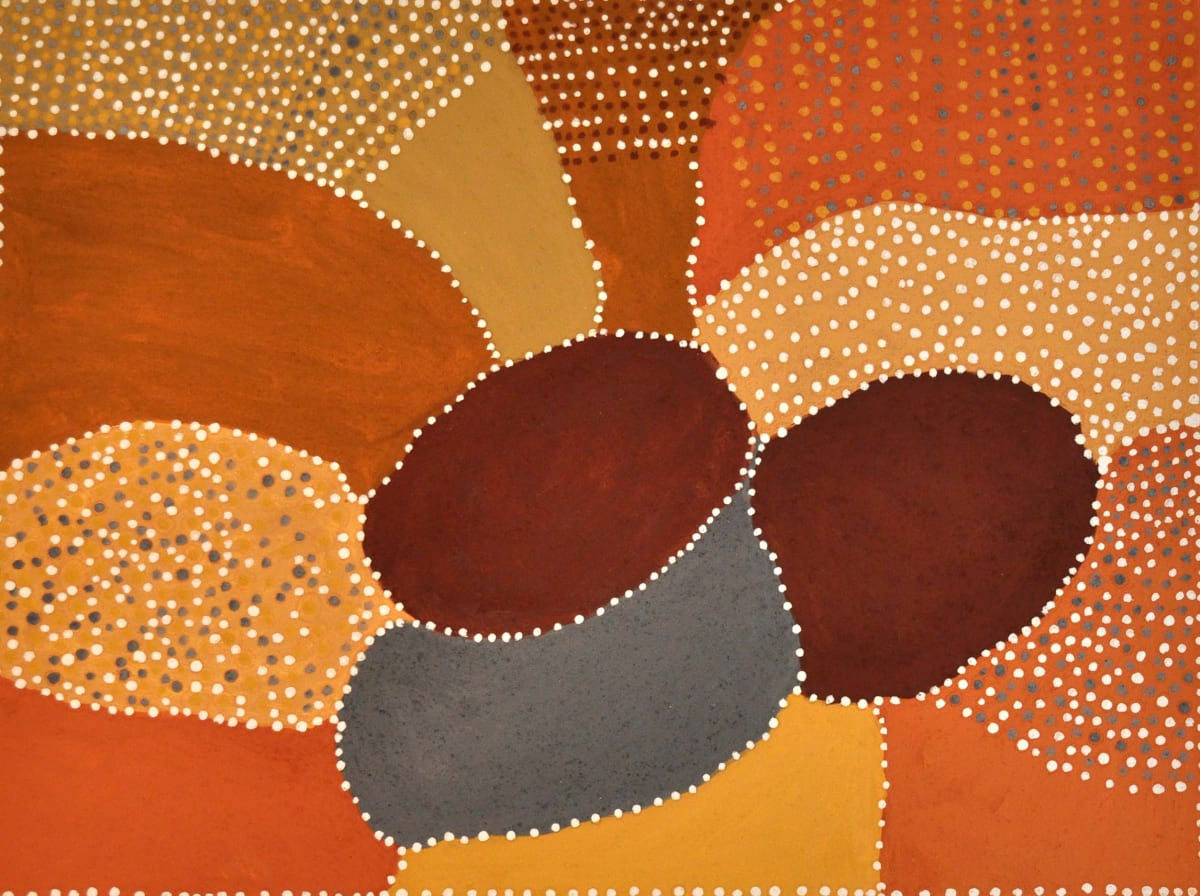 Patrick Mung Mung Ngarrgooroon natural ochre and pigments on canvas 80 x 60 cm