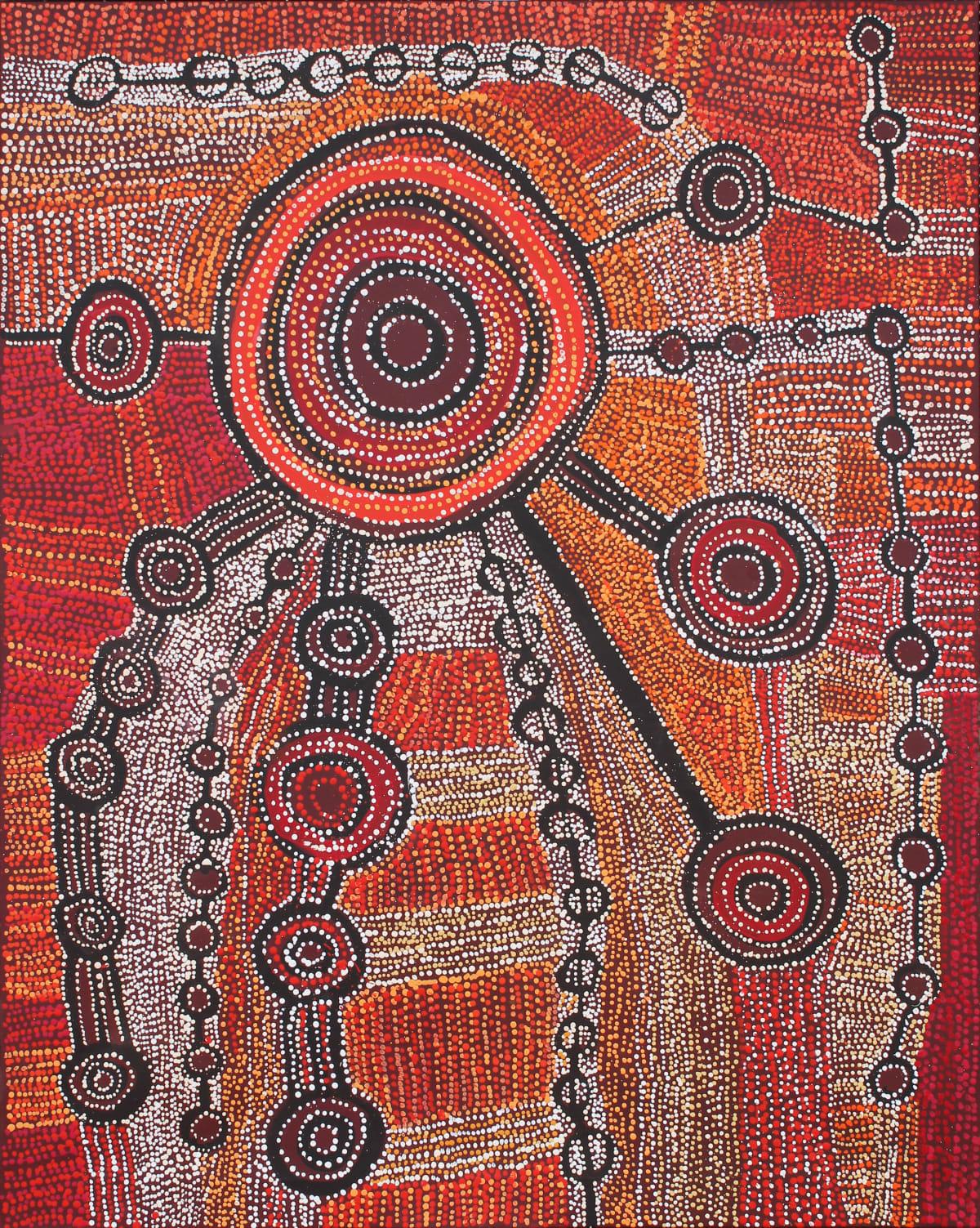 Willy Muntjanti Martin Wanampi Tjukurpa acrylic on linen 152 x 122 cm