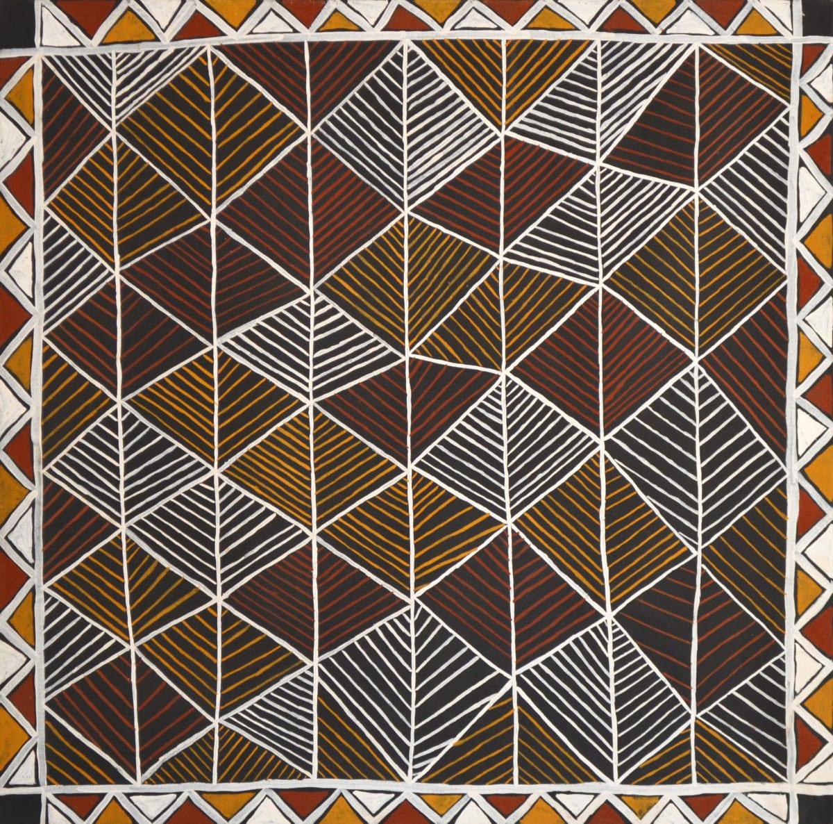 Michelle Woody Minnapinni Jilamara natural ochres on canvas 120 x 120 cm