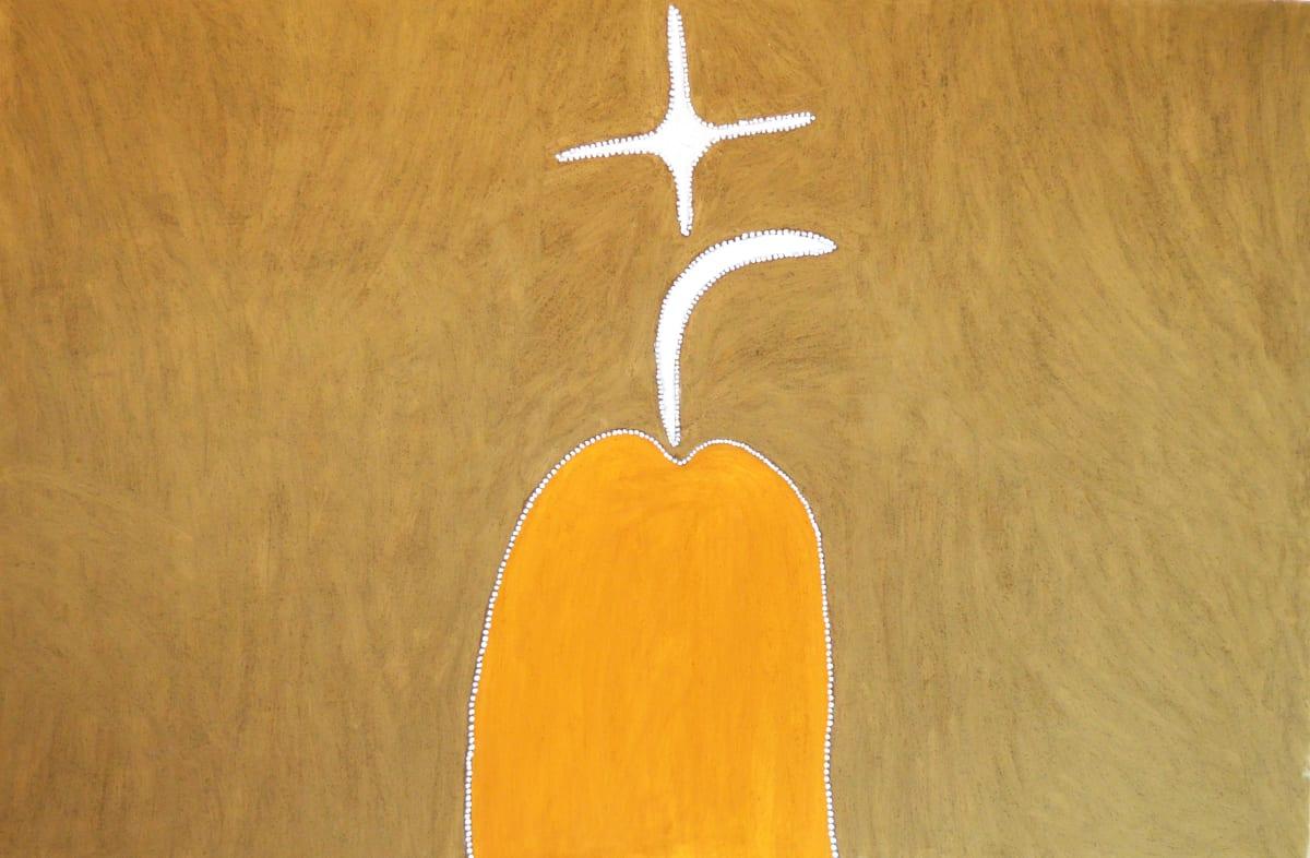 Mabel Juli GARNKINY NGARRANGGARNI natural earth pigment on canvas 180 x 120 cm