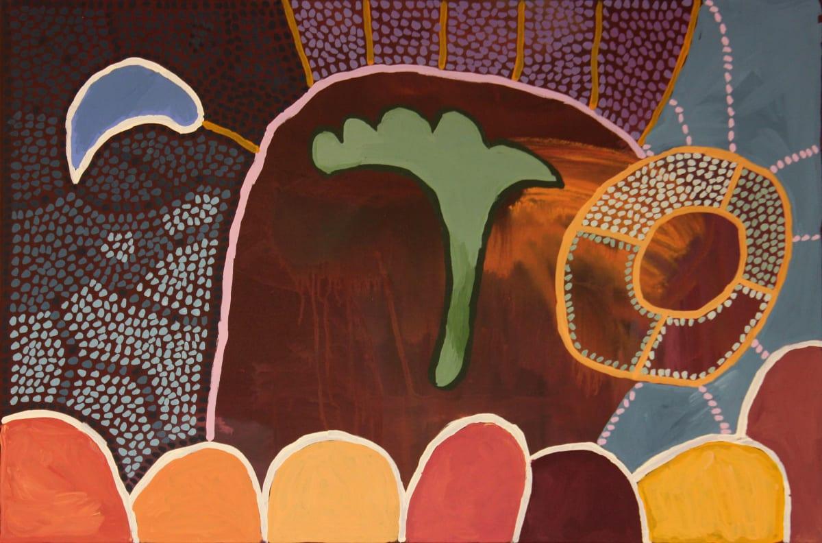 Linda Puna Ngayuku Ngura (My Home), 2019 Acrylic on linen 122 x 82 cm