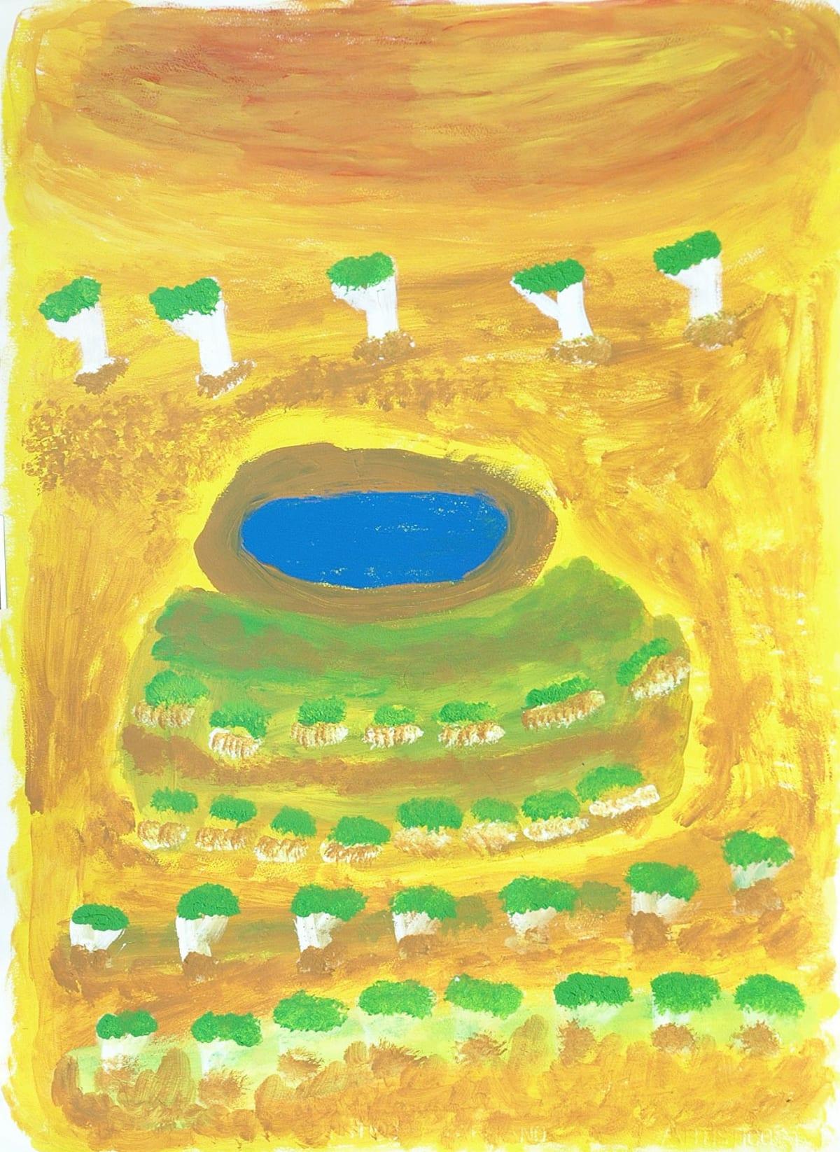 Rosie (Tarku) Tarco King Japirnka atelier artist acrylic on 250gsm velin arches 56 x 76 cm