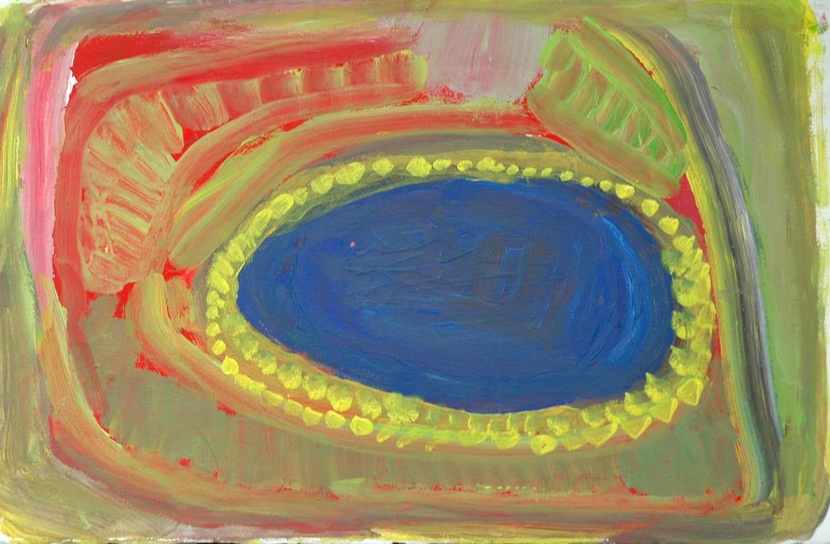 Wajina Paji Honeychild Yankarr Mikulpurrtu atelier artist acrylic on 250gsm velin arches 33 x 50 cm