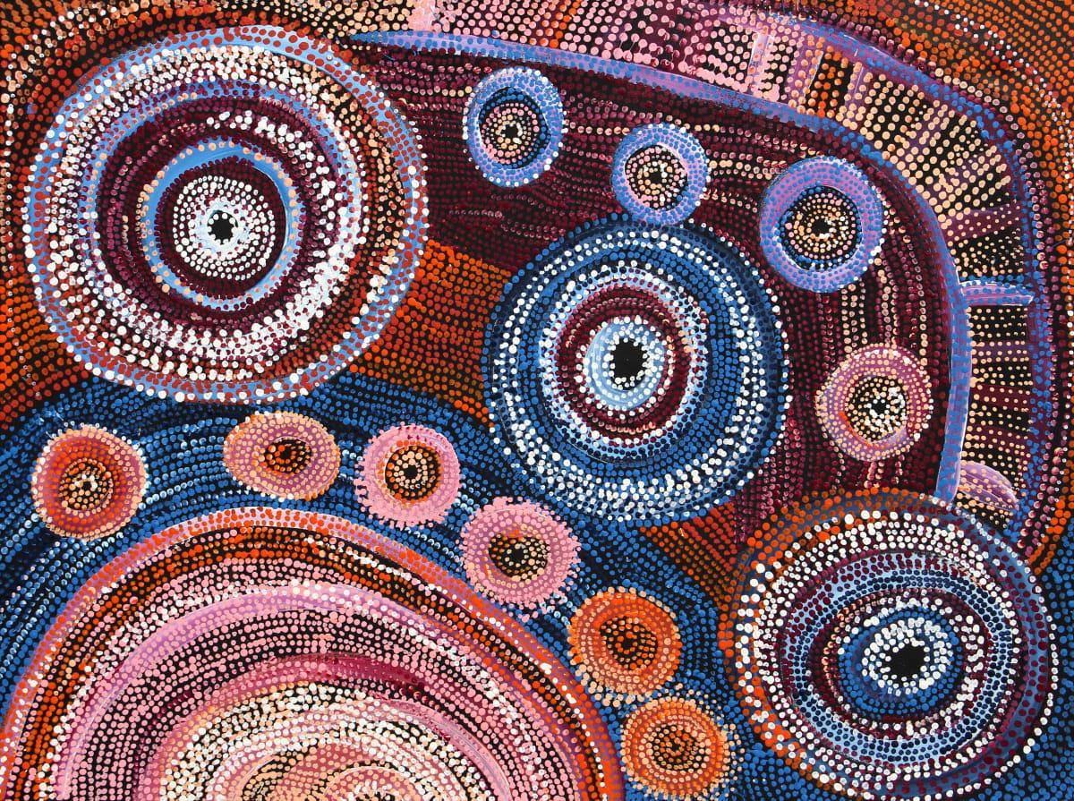 Rosalind Tjanyari Ngyuku Ngura Kuuti Uwankara acrylic on canvas 91 x 121 cm