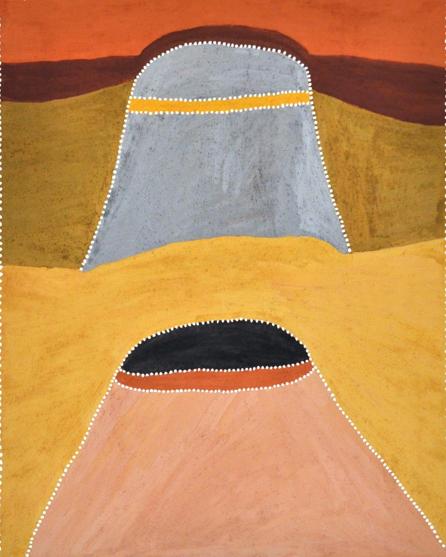 Betty Carrington Woolrrwyn Texas Way natural ochre and pigments on canvas 100 x 80 cm