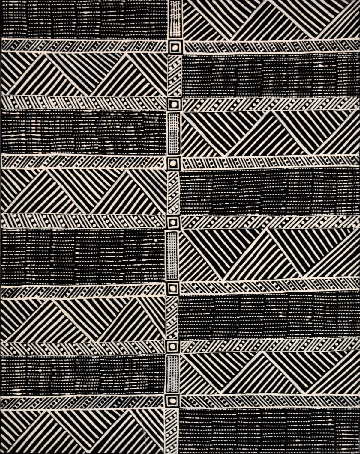 Geraldine Francine Pilakui Jilamara natural ochres on linen 90 x 70 cm