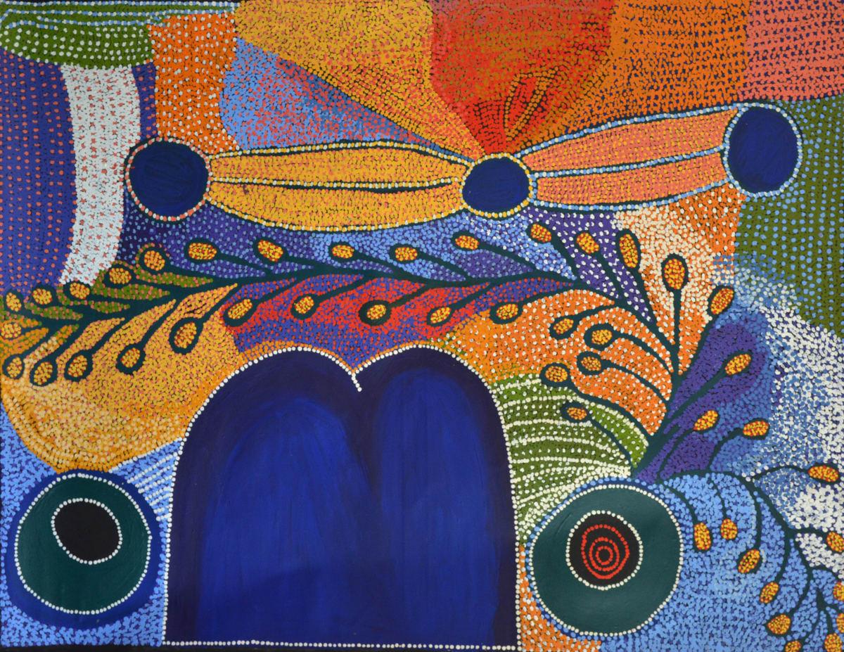 Kunmanara Williamson Musgrave Ranges acrylic on linen 151 x 198 cm