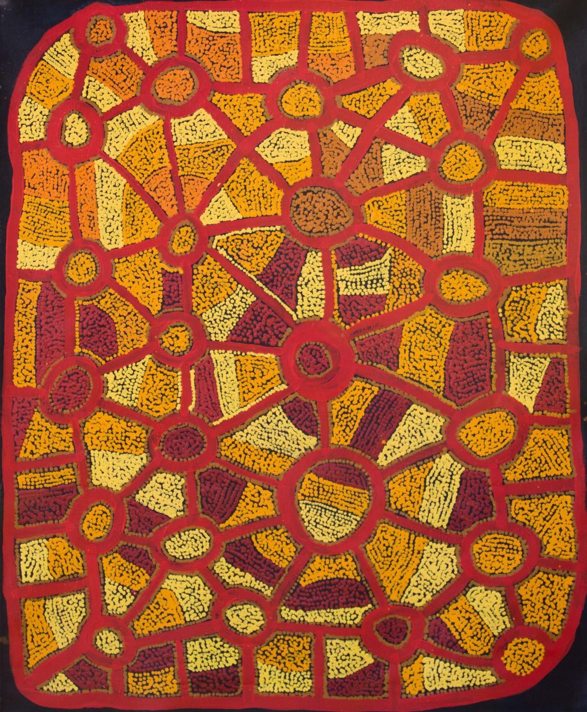 Ian Rictor Tuwan acrylic on linen 110 x 91 cm