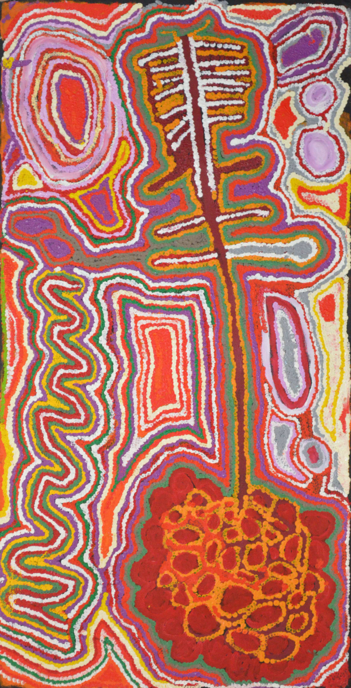 Jimmy Donegan Pukara acrylic on linen 123 x 61 cm