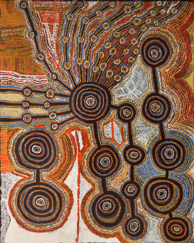 Taylor Cooper Malara:Wanampi Tjukurpa acrylic on linen 153 x 122 cm