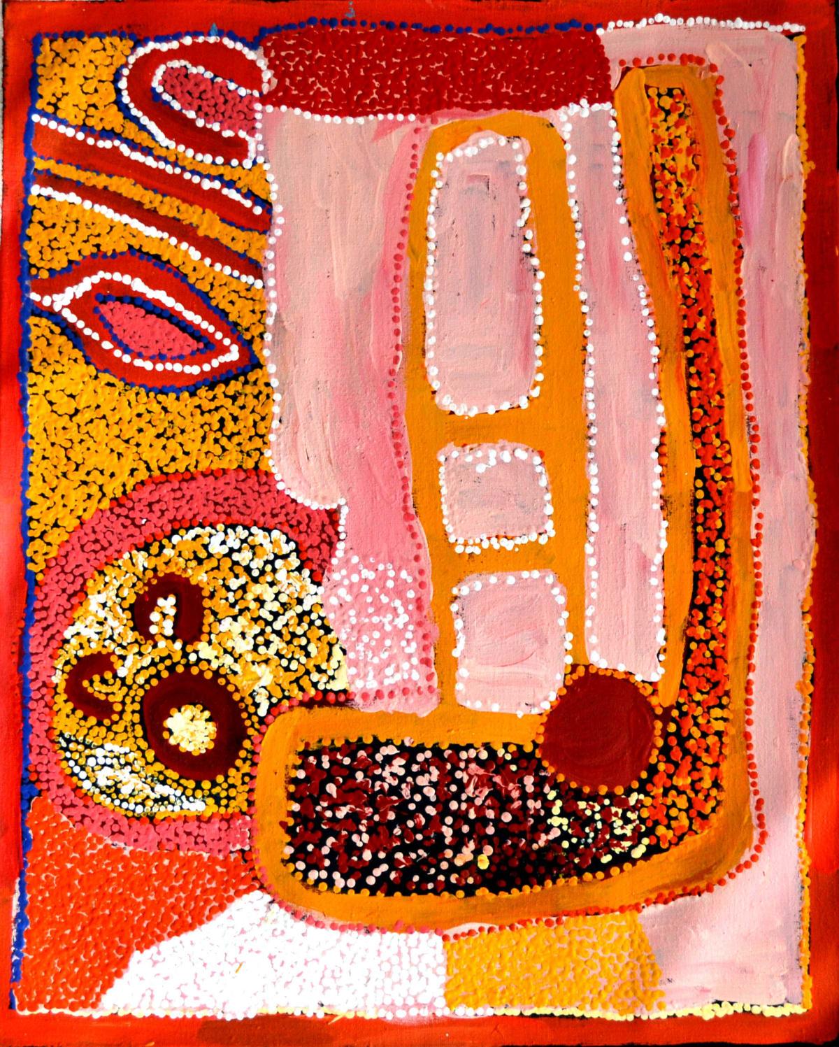 Dora Parker Nguraku acrylic on linen 75 x 60 cm