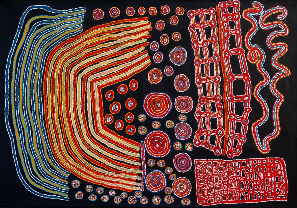 Lennard Walker Kuru Ala, 2019 Acrylic on linen 200 x 137 cm