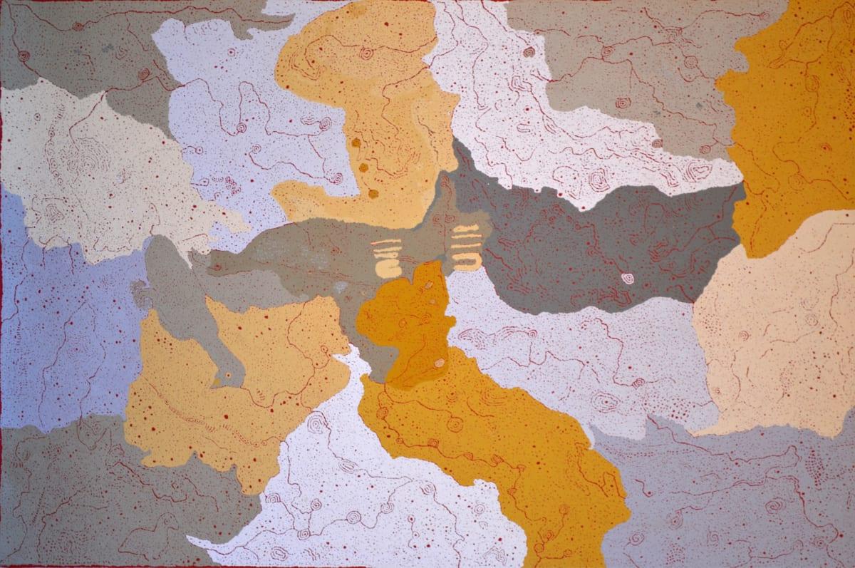 Keith Stevens Piltatinya ka Nganamara Ngura acrylic on linen 151 x 100 cm