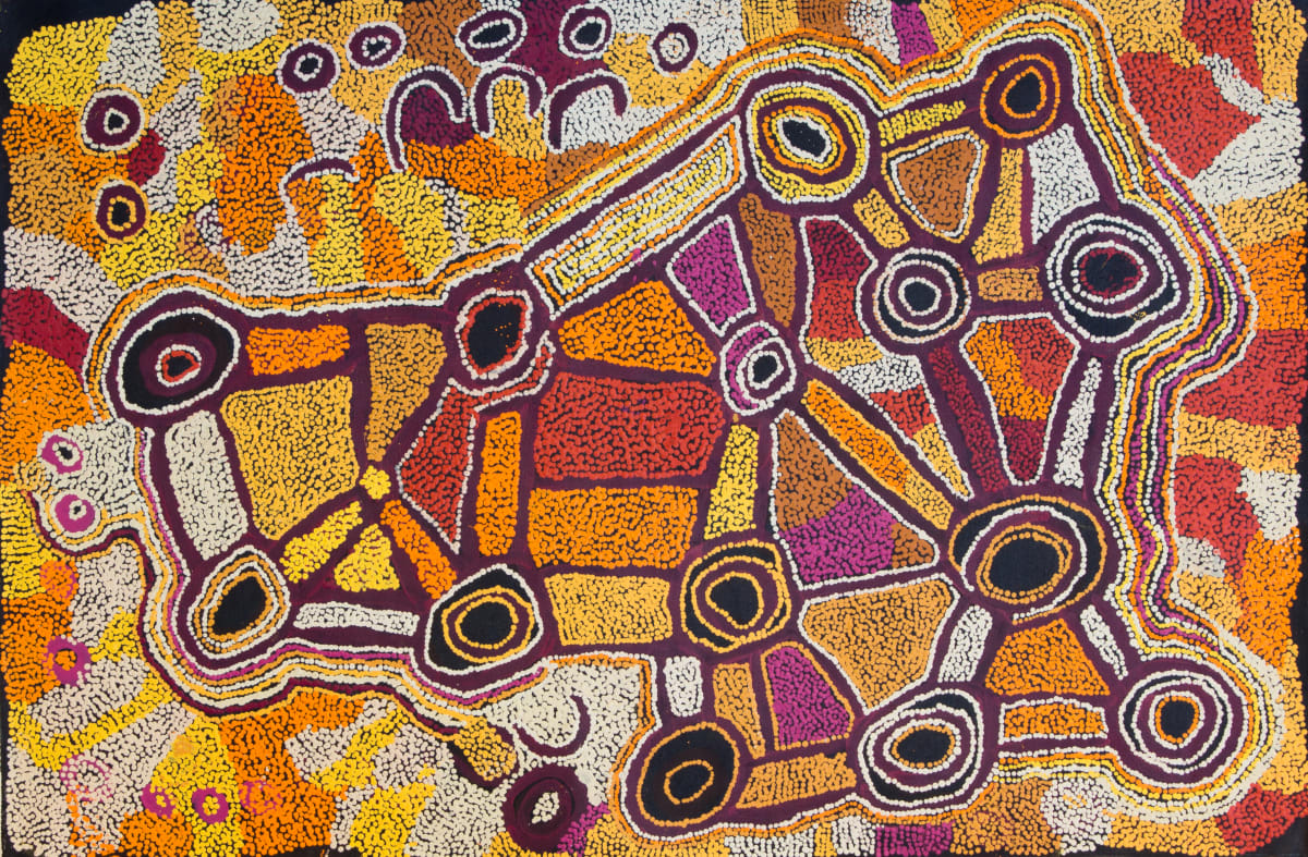 Ngalpingka Simms Wayilyul Acrylic on linen 137 x 90 cm