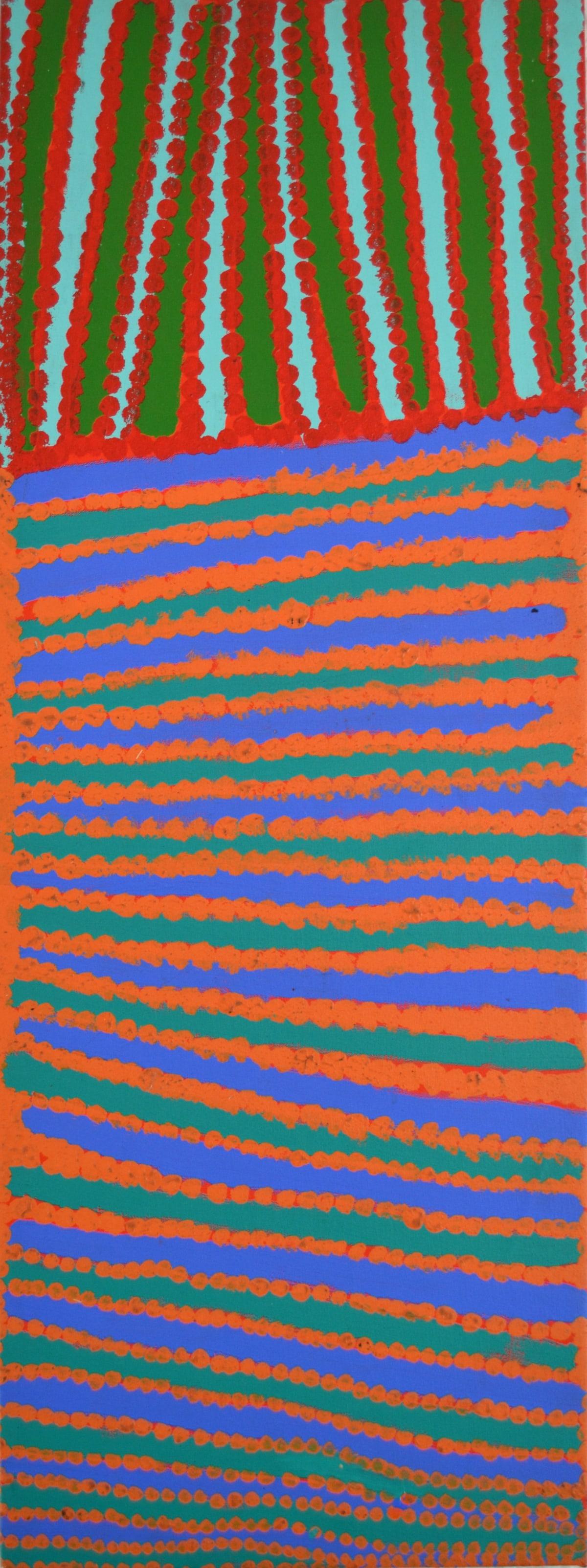 Donald Moko Ilungorr acrylic on canvas 45.5 x 121 cm