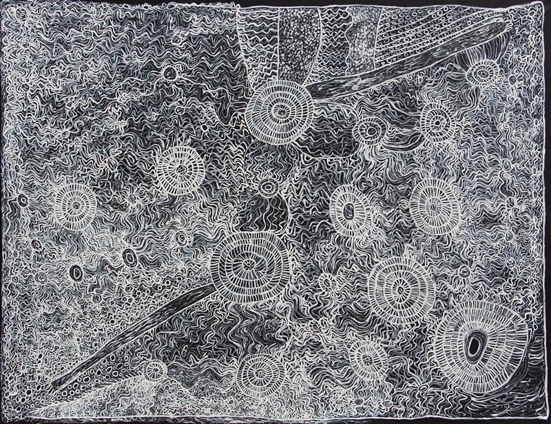 Betty Muffler Ngangkari Ngura (Healing Country) , 2019 Acrylic on Linen 152 x 198cm