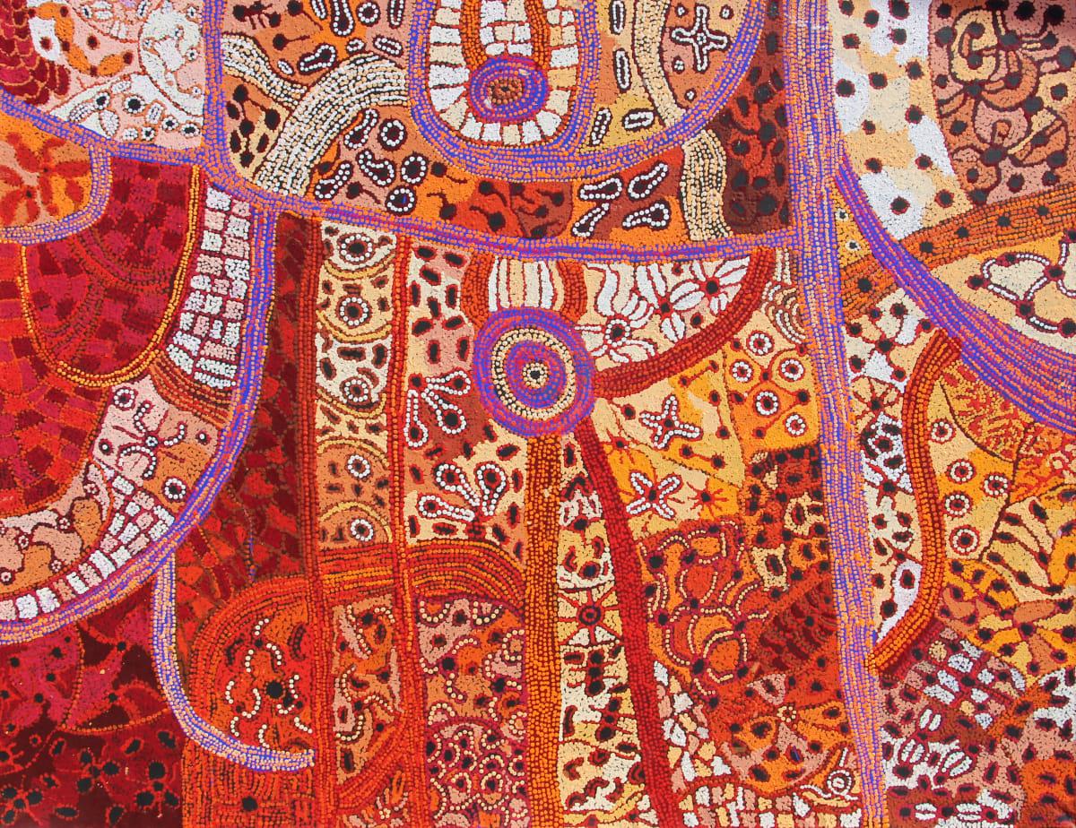 Betty Chimney Ngayuku Ngura (My Country), 2019 Acrylic on Linen 152 x 198cm