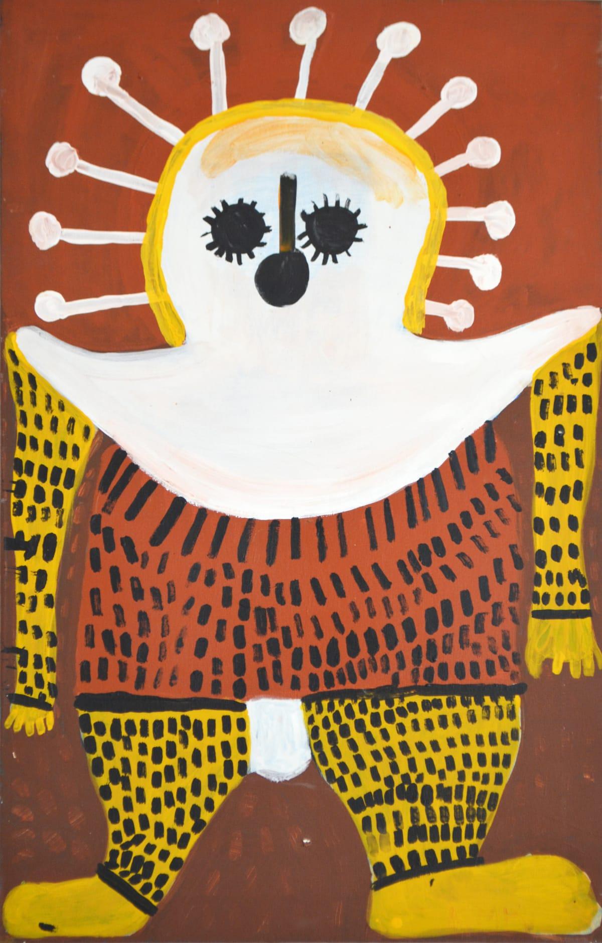 Mabel King Wandjina acrylic on canvas 88 x 55 cm