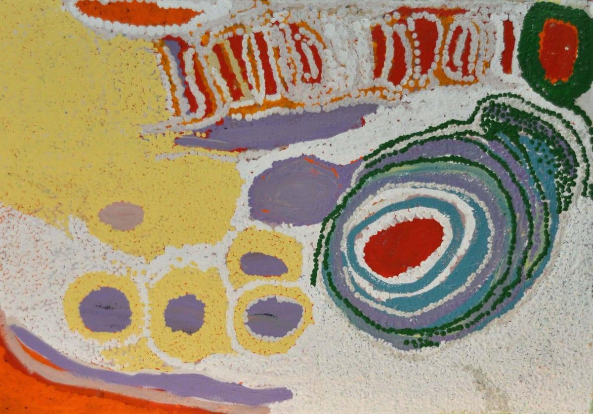 Jakayu Biljabu Walla Walla acrylic on canvas 61 x 91 cm