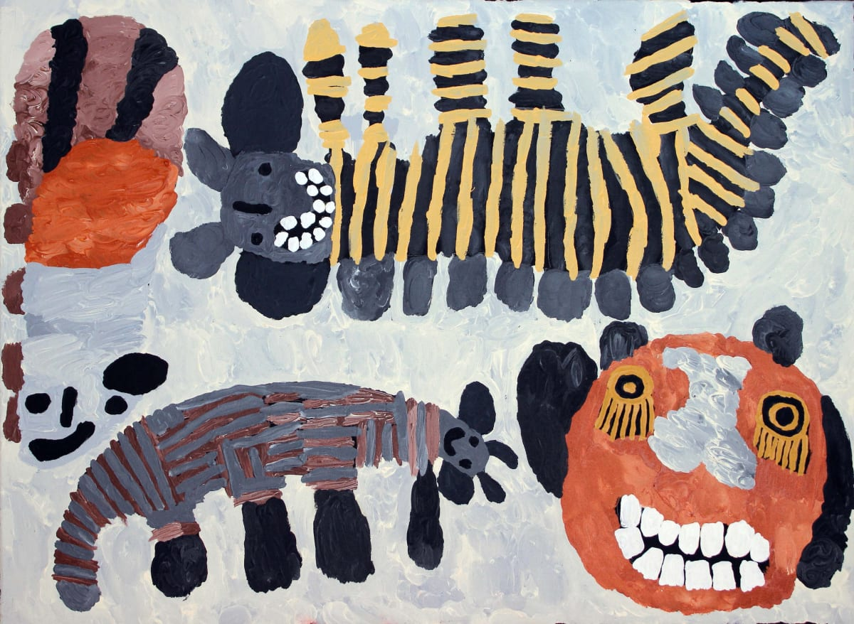 Tiger Yaltangki Mamutjara (Ghost Story) acrylic on canvas 67 x 91 cm