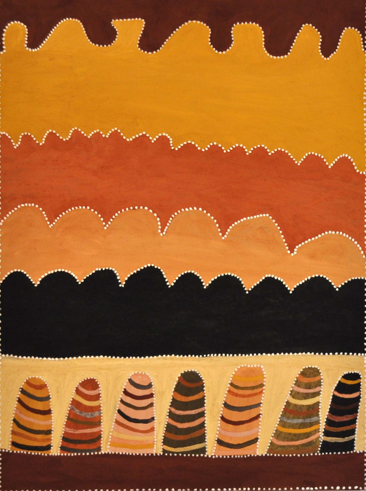 Betty Carrington Gowarrin natural ochre and pigments on canvas 120 x 90 cm