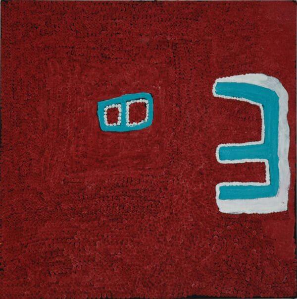 Margaret Baragurra Gali Gali acrylic on canvas 90 x 90 cm