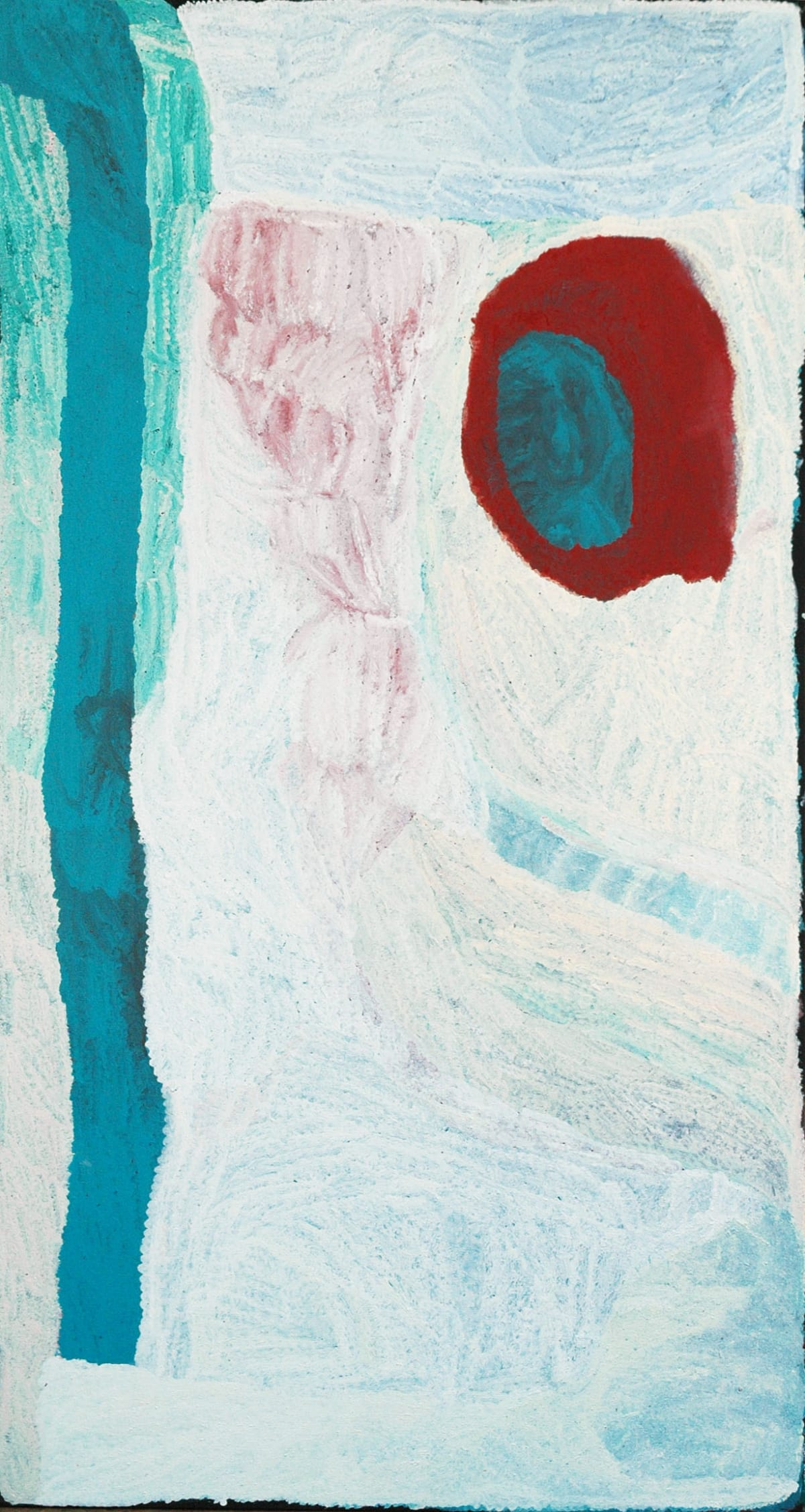 Lydia Balbal Untitled acrylic on linen 180 x 95 cm