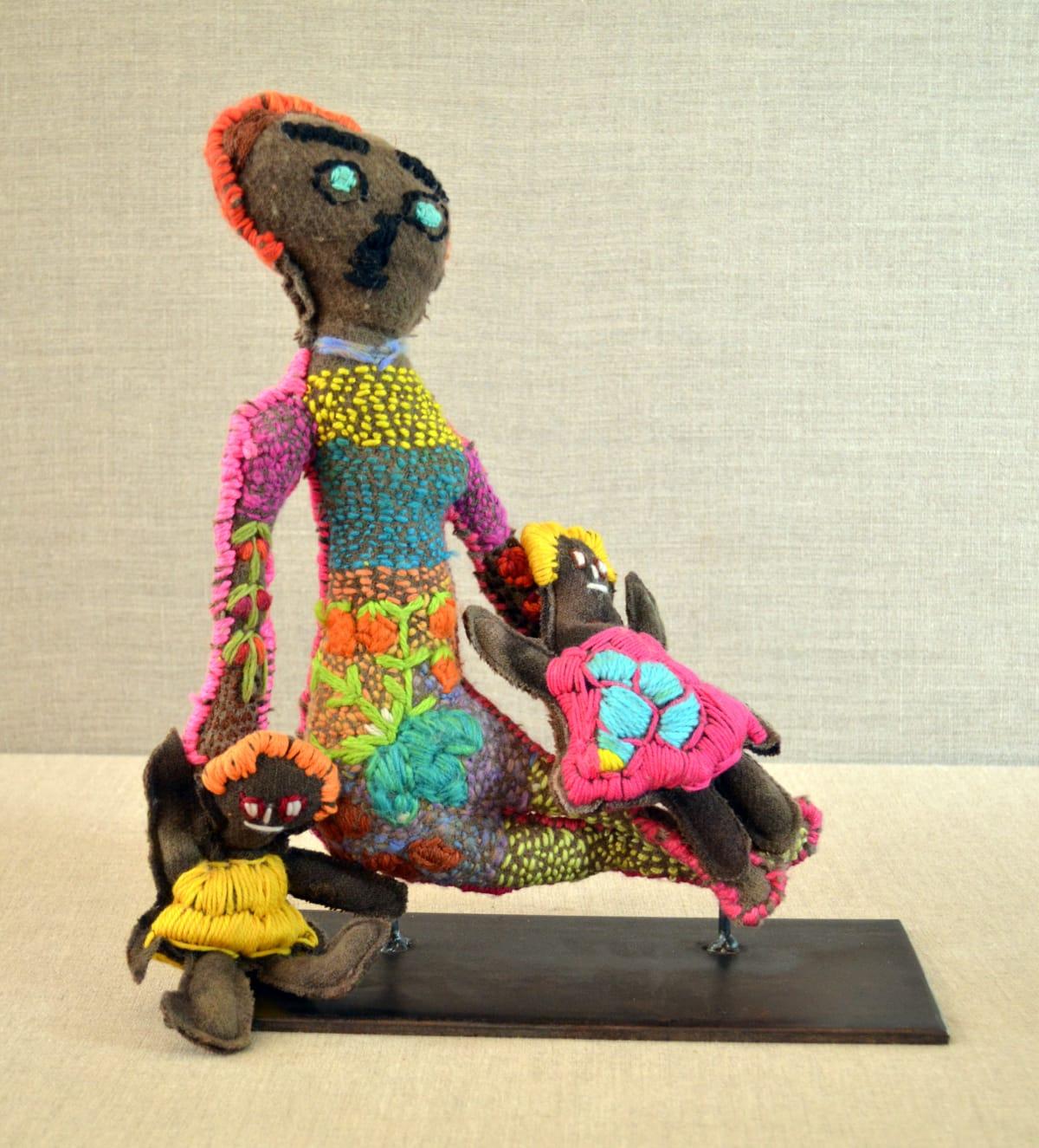 Dulcie Raggett The children always come first Soft Sculpture 35 x 33 x 8 cm