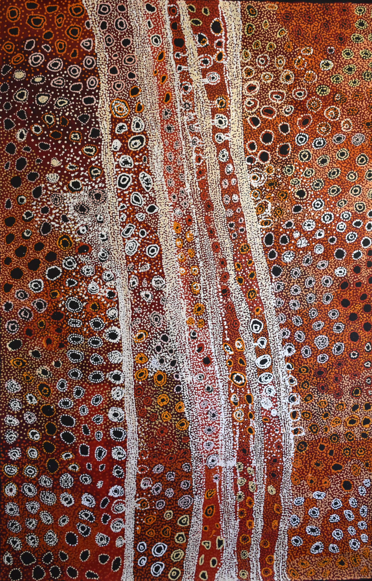 "Mitakiki Women's Collaborative Seven Sisters Acrylic on Linen 122 x 198 cm (48x78"")"