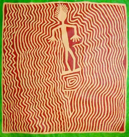 Jimmy Pike Japingka 2002 acrylic on canvas 120 x 128 cm